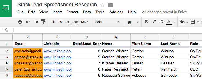 StackLead Research Results