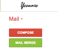 Yesware Mail Merge Button